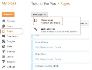 Cara Membuat Daftar Isi Blogger Dengan Navigasi Halaman